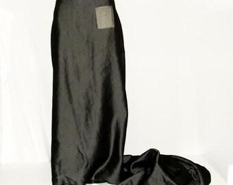 CUSTOM  Gothic Midnight Train metallic  Denim skirt YOUR SIZE