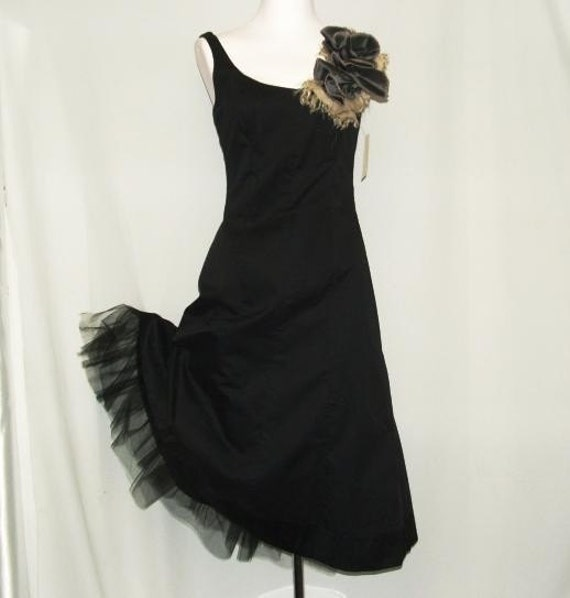 Distressed Corsage Daytime Party Dress Jumper