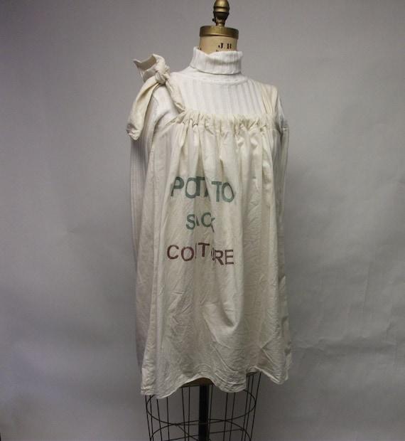 potato sack tunic dress