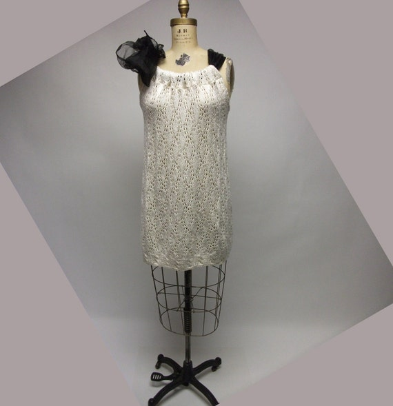 SALE Crochet Ecru Tunic