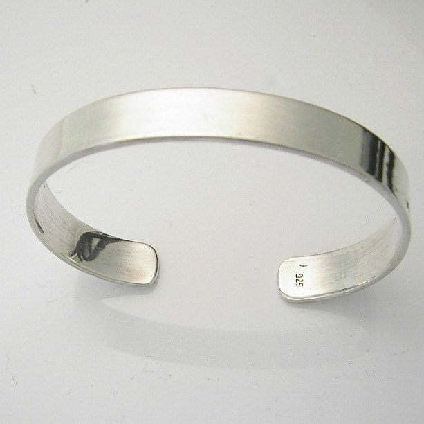 Sterling silver cuff bracelet large for man or plus size bbw for Plus size jewelry bracelets