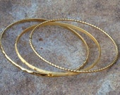 Set of 3 Gold Bangles