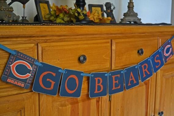 SALE -GO BEARS football team Banner or Garland - Chicago.Illinois-