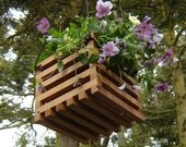 Hanging Basket Planter from Reclaimed Wood