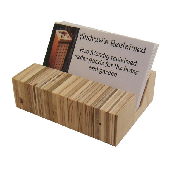 Bit O' Eames Recycled Wood Business Card Holder