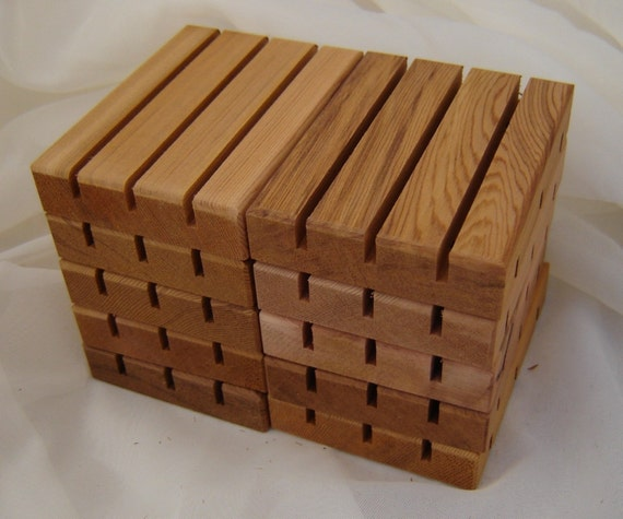 RESERVED for Julia, Wooden Soap Dish Pro Pack 200 Count Wonderful Cedar Scent, Smooth Finish, Near Wholesale