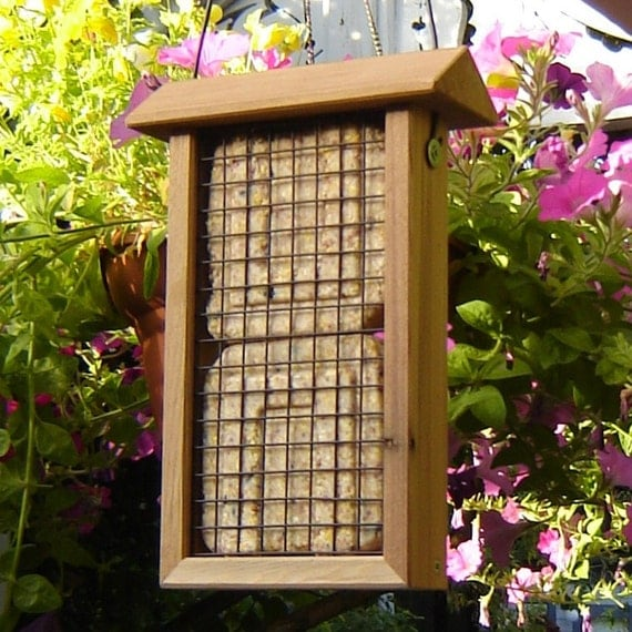 Hanging Bird Feeder from Re-milled Reclaimed Wood