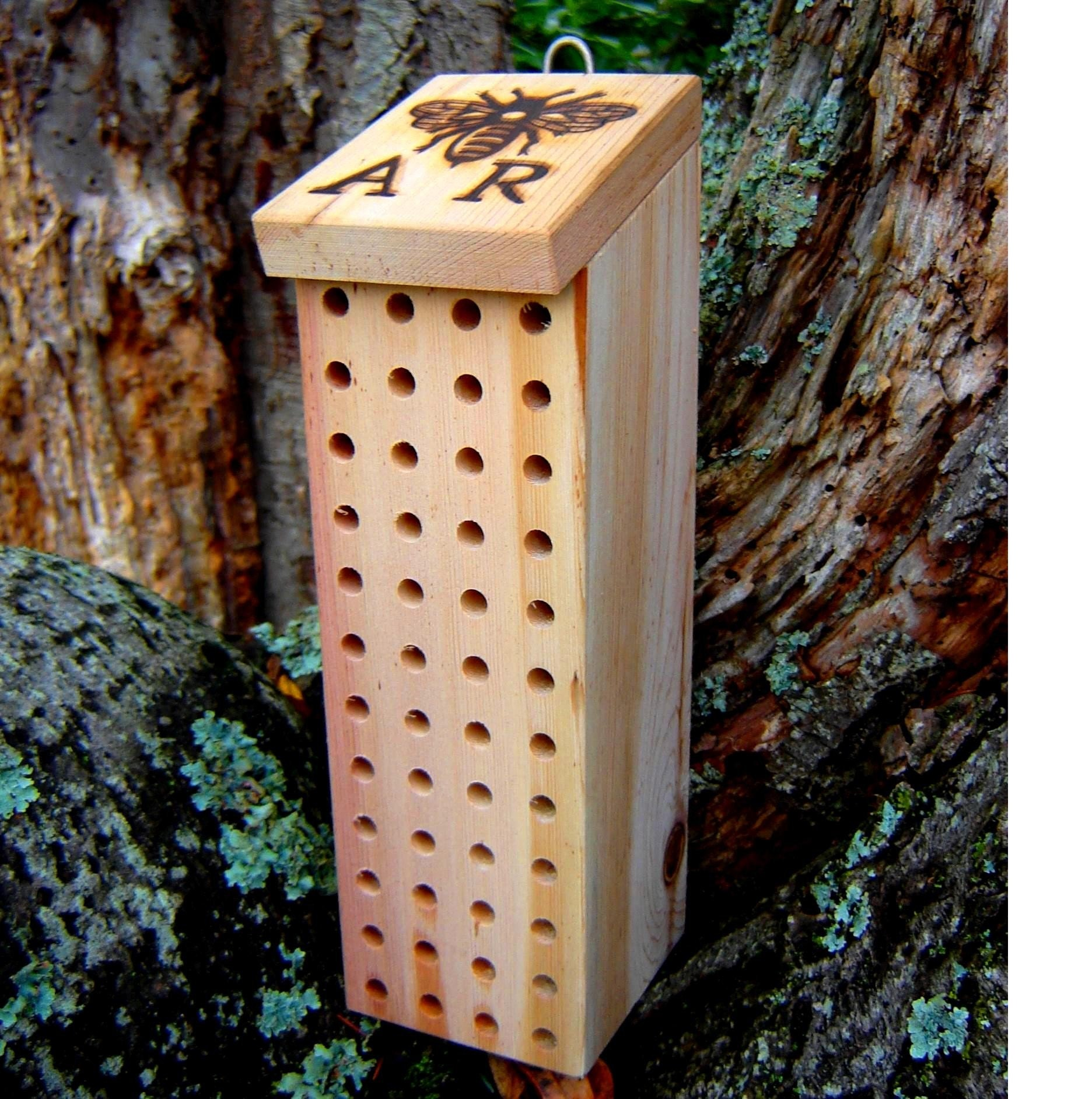 Mason Bee Nesting Box Size 3 Bee Hive by andrewsreclaimed ...