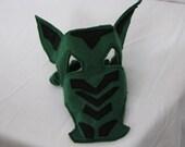 green dragon felt mask