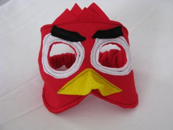 red bird felt mask