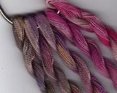Perle Fine, 5 pack, Indigo, Mauve, Pink, Yarn, Mixed Media, Textile Art, Fiber Art, Serendipity