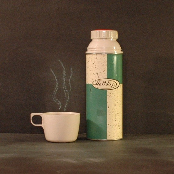 Green Holiday Thermos