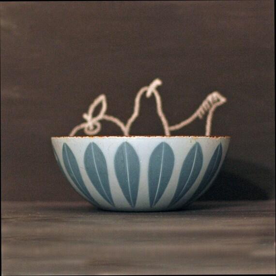 Catherineholm Enamel Blue Lotus Bowl