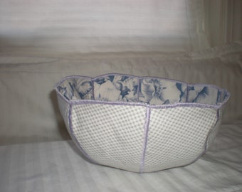 Reversible Fabric Bowl w\/ coasters