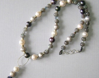 Not Your Mamma's Pearls labradorite necklace
