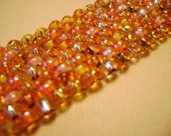Orangeade orange beadwoven cuff bracelet