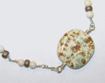 Kenya Kazuri bead silver bracelet