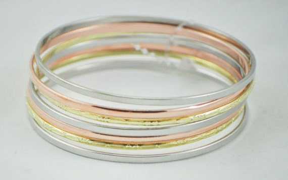 Bangle Bracelet Blanks, Wholesale lot of 25 thin bracelets for wrapping, Supplies, Fashion bangles, fun projects