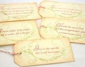 Bible Verse Christmas Tags, Bible Christmas Tags, Religious Christmas Tags, Bible Gift Tags Set of 5