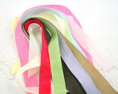 Silky Ribbon Ties for Muslin Bags Add on - You Choose Color