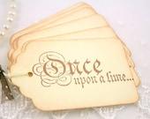 Once Upon a Time Gift Tags Favor Wedding Tags Princess Set of 10