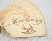 Bird Gift Tags Favor Tags Bird of Beauty