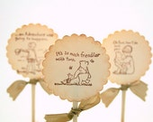 Winnie the Pooh Cupcake Toppers / Food Picks Baby Shower Birthday Party Set of 10