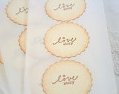 Wedding Stickers A Love Story Fairytale Envelope Seals Set of 12