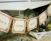 Jane Austen Quote Banner Garland Tea Party Decoration Photo Prop Bridal Shower