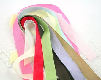 Silky Ribbon Ties for Muslin Bags Add on - You Choose Color Set of 10