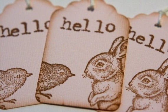 Bird and Bunny Friendship Gift Tags