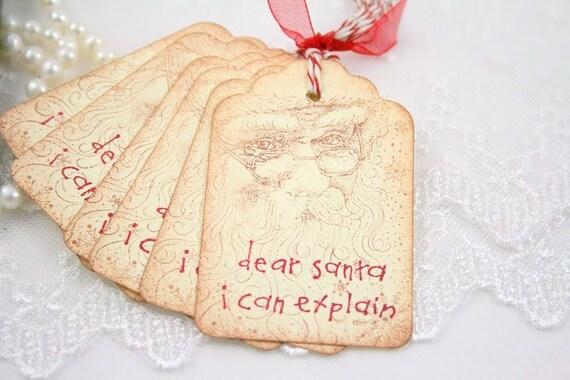 I can Explain Tags, Dear Santa Tags, Christmas Tags, Santa Tags Christmas Gift Tags for Children Set of 10