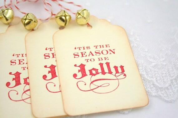 Christmas Gift Tags Jolly Jingle Bells