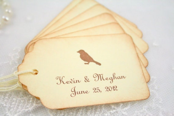 Wedding Gift Name Tags : Personalized Wedding Gift Tags / Favor Tags Set of 10 Name and Date ...