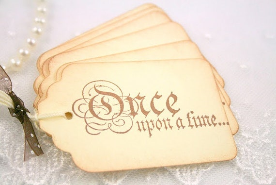 Matrimonio Tema Once Upon A Time : Once upon a time gift tags favor wedding princess set of