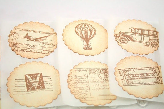 Travel Stickers Globe Hot Air Balloon Car Seals