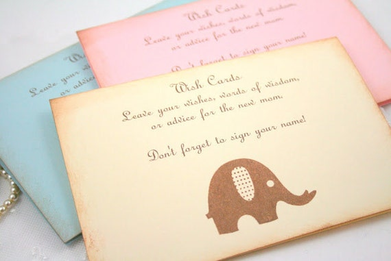 Wish Card Instruction Sign Baby Shower You Choose Image