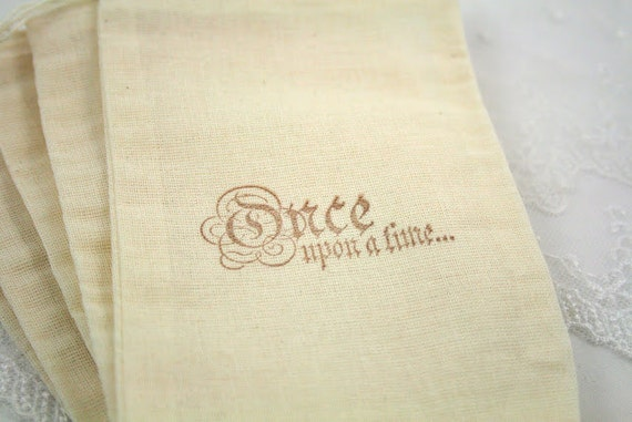 Fairytale Favor Bags Muslin Bags Once Upon a Time SET OF 10