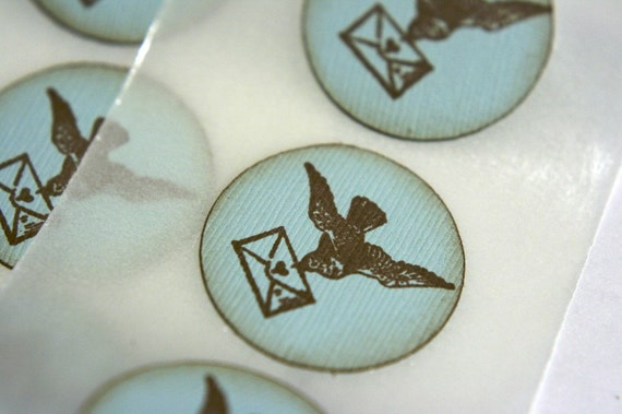 Bird Love Letter Stickers and Envelope Seals