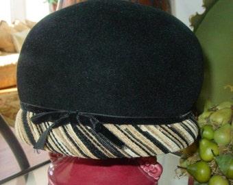 Vintage Designer Velvet Hat