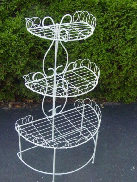 Mid Century Modern Wire Plant Stand Wedding  REDUCED