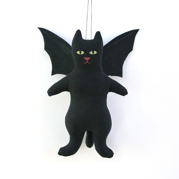 Black Bat Cat Doll