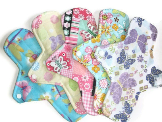 Cloth Menstrual Pads-Pick Five Maxi 11 inches long with PUL-Your CHOICE of FABRIC