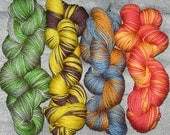1\/2 skeins of Harry Potter Yarn - all 4 house colours