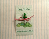 Polymer Clay Frog Smiles Pin Topper