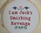 Sweet Revenge Tyler Durden Snarky Cross Stitch Sampler