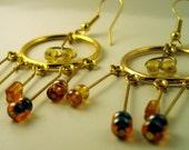 Cherie- Golden Chandelier Earrings