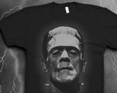 Frankenstein shirt Softstyle tshirt Mens shirt Monster tshirt