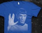 Mr. Spock Vulcan Salute Softstyle Cotton Shirt