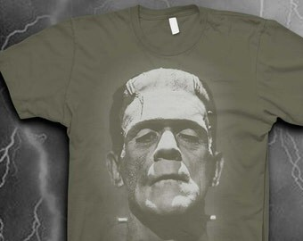 Monster Frankenstein T-shirt Softstyle Mens t-shirt Gothic tshirt